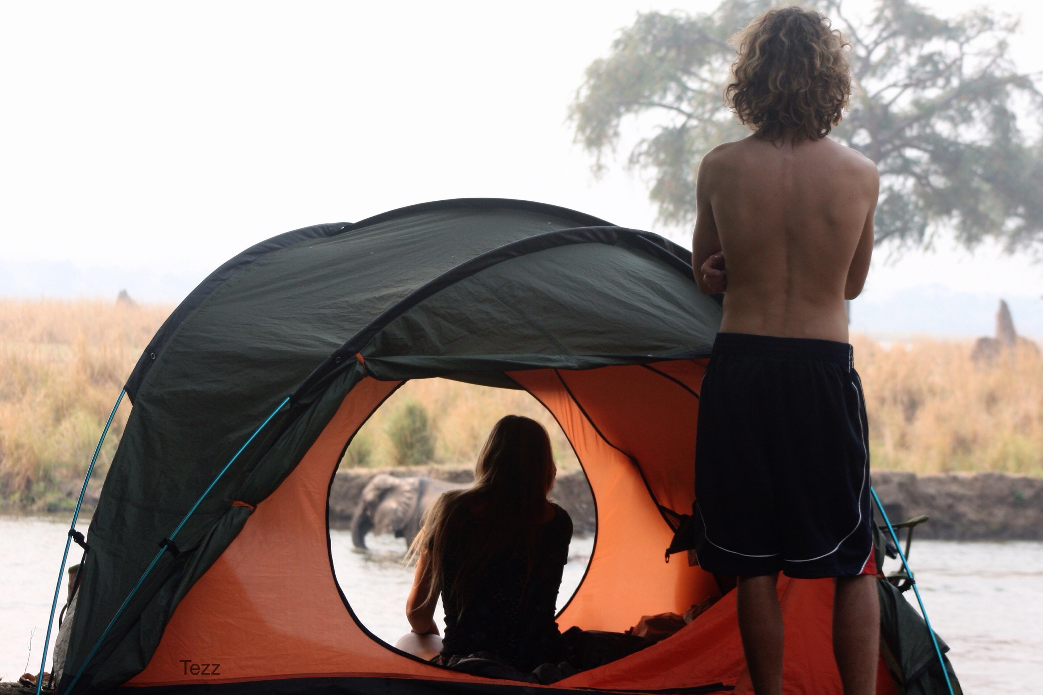 Camping on the Zambezi